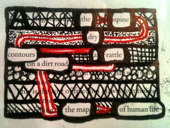 the spine dry contours a rattle on a dirt road the map of human life