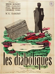 LES DIABOLIQUES - French Re-Release Poster by Raymond Gid